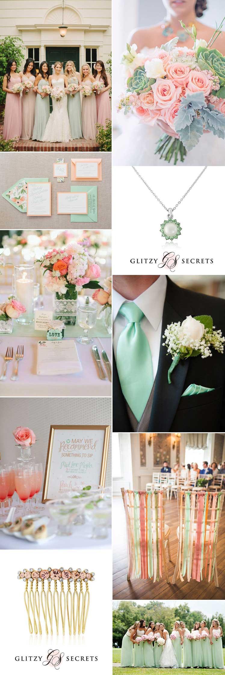 Peach Orange And Green Wedding Theme | deweddingjpg.com