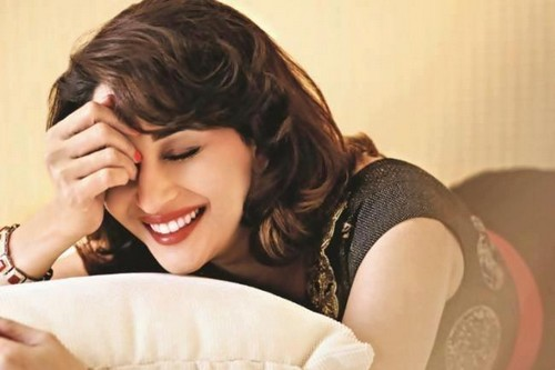 Madhuri Dixit Beautiful Smile and Lips