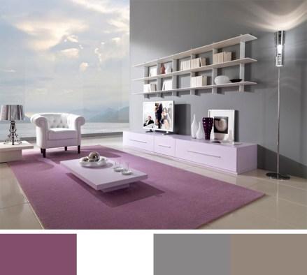 Purpal Color Scheme for Interior Decor