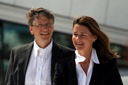Bill Gates and Melinda Gates in Oslo, June 2009