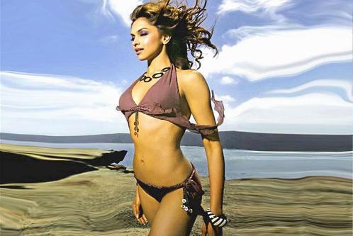 Hottest Bikini Babe Deepika Padukone.