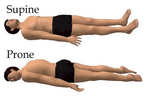 Sleeping Postures Supine and Prone