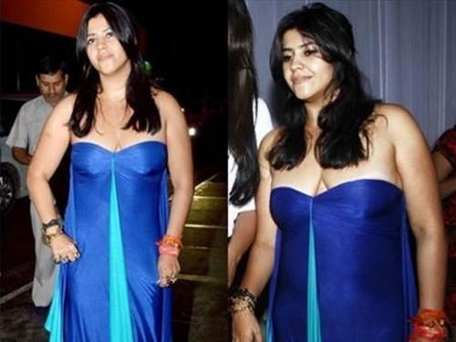 Ekta Kapoor Ugly Cleavage