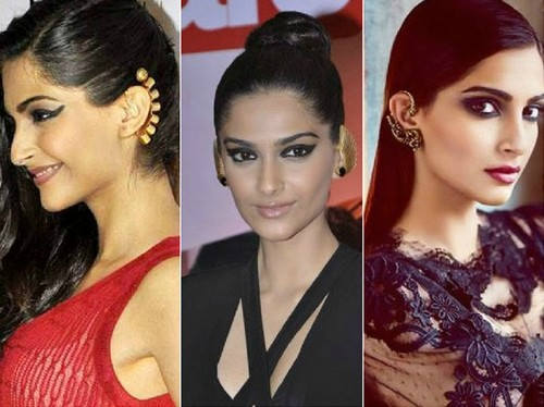 Sonam Kapoor Ear Cuffs