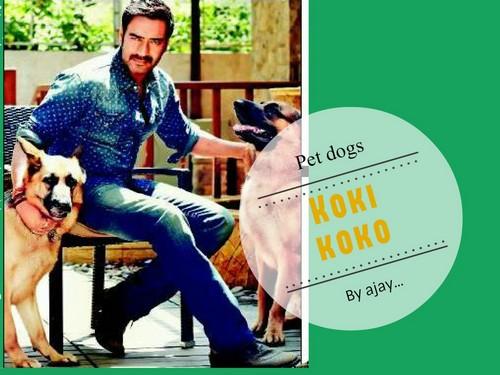 Ajay Devgan with dog