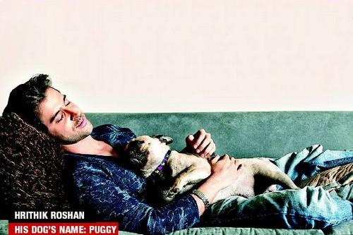 Hrithik Roshan with dog