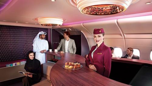 Qatar Airways first class lounge