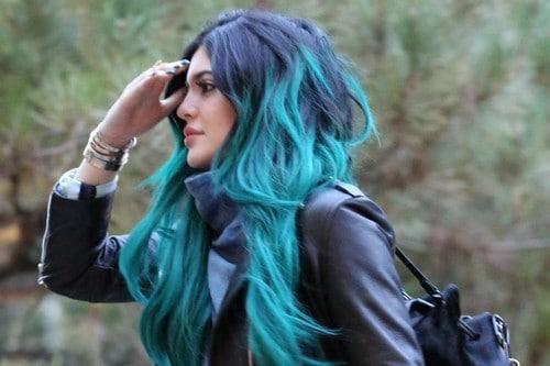Kylie Jenner Pastel Blue Hair