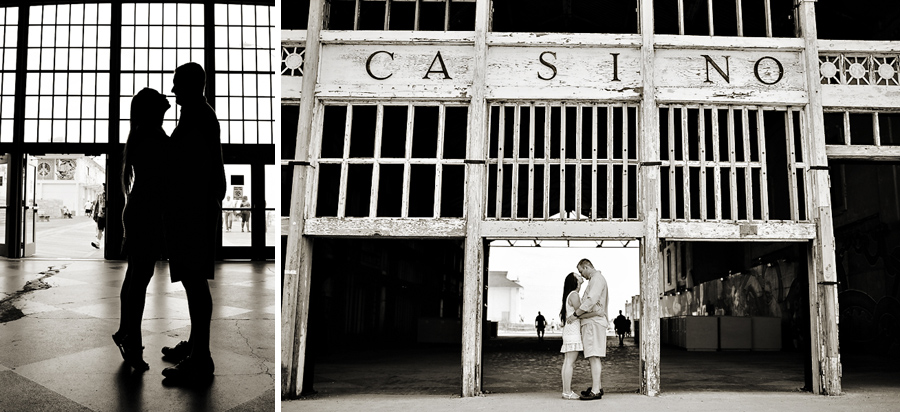asbury park casino engagement photos