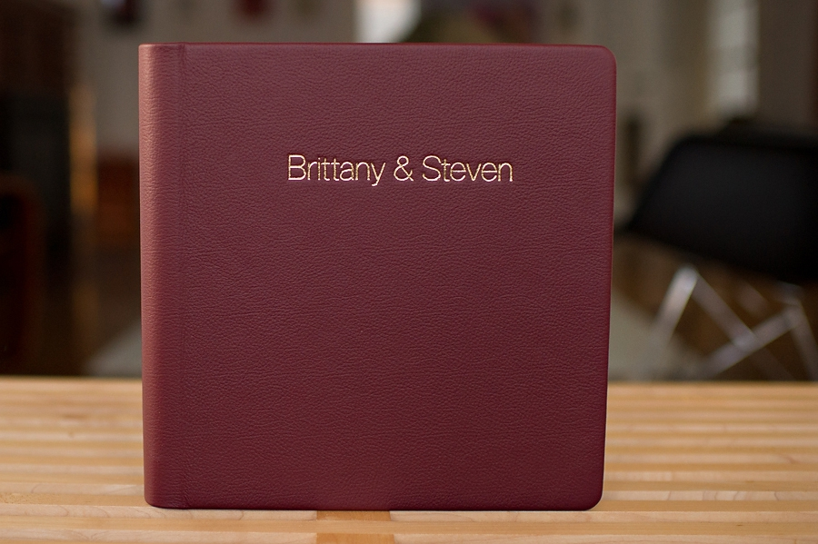 Presenting the Grand Royal {Custom Italian Leather Wedding Album}