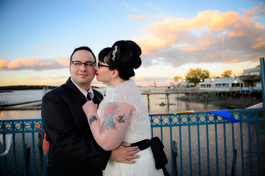 Rockabilly Wedding at City Island Lobster House {Emma & Chris}