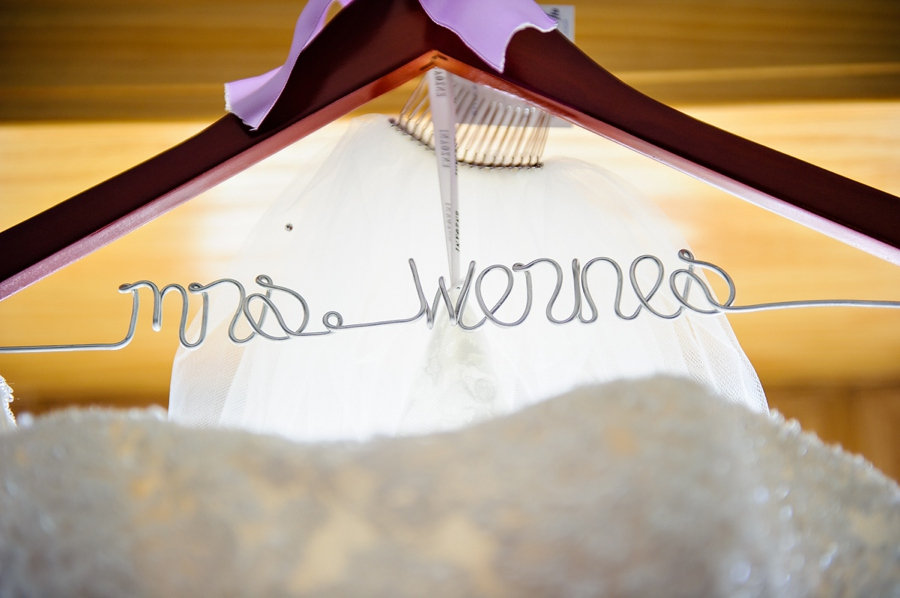 Fancy Wedding Hanger with Bride's New Name