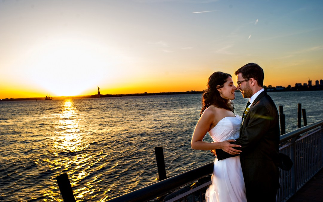 Sunset over Lower Manhattan {Jenny & Josh Teaser}