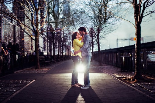Batya & Matt's Hudson River Greenway Engagement Photos
