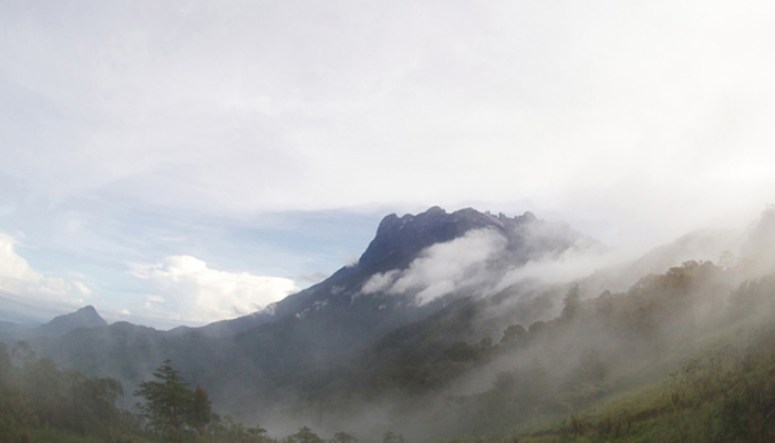 The majestic and mythical Mount Kinabalu, a site which has been held sacred by the highland Dusuns in the area. (Photo by Herna Henry)