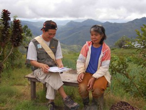 Clement carrying out demographic survey in Buayan