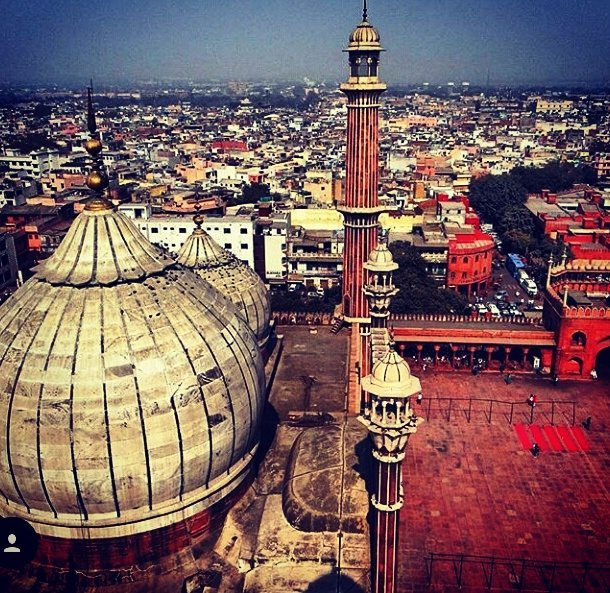 Views over Delhi from Jama Masjid