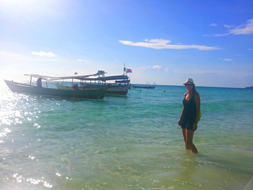 boats at koh rong island