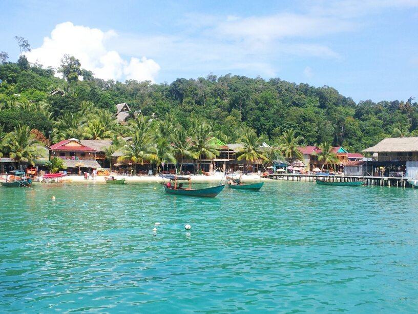 Koh rong island pier