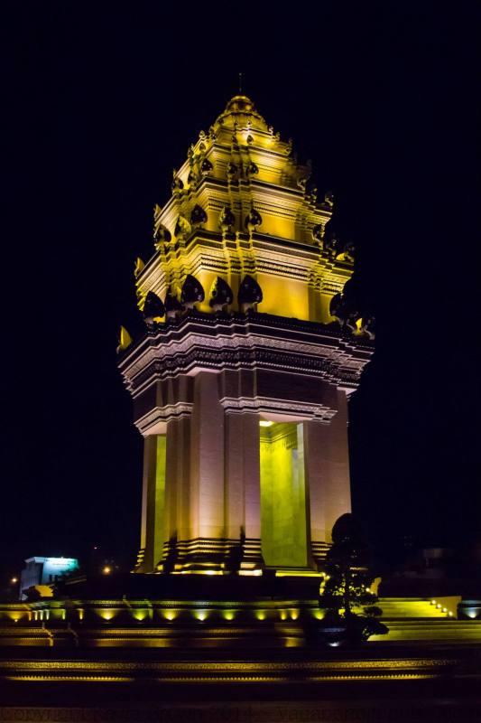 Phnom Penh's independence monument.