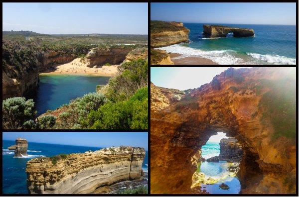 great ocean road trip collage