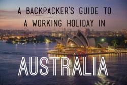 working holiday australia ebook