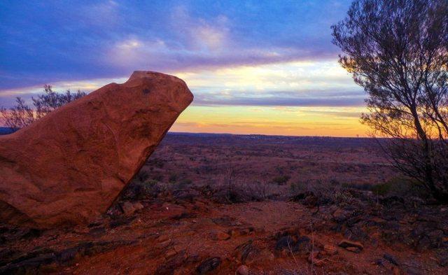 broken hill outback sunset
