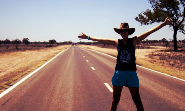 outback road australia free travel hitch hiking