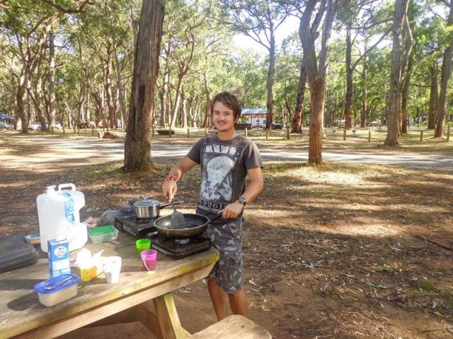 cooking camping road trip australia