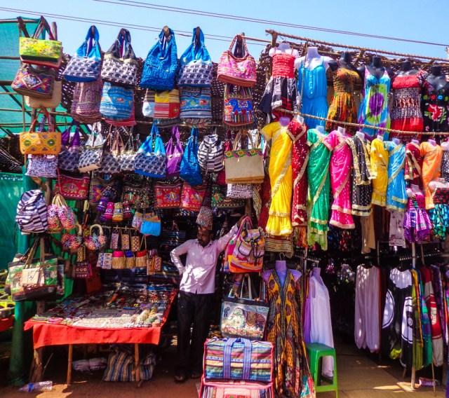 Stalls at the Anjuna Flea Market