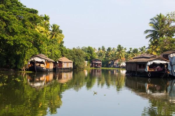 Houseboats on the Kerala Backwaters