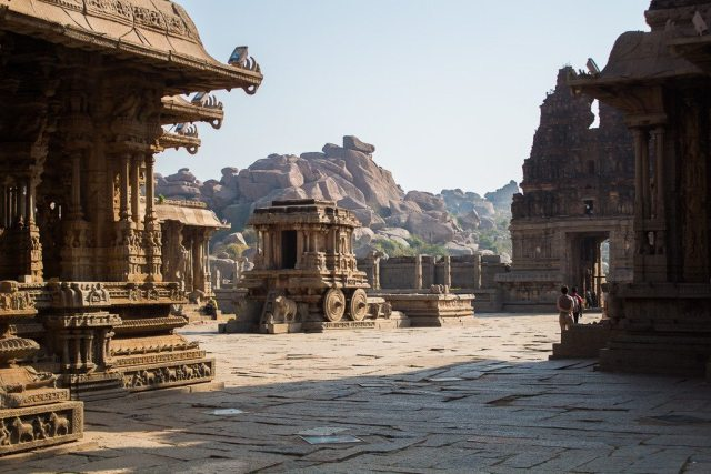 Temples at Hampi - a popular backpacker destination in India
