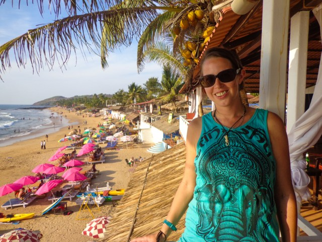 At one of my regular hangouts, Lilliputs, on Anjuna Beach