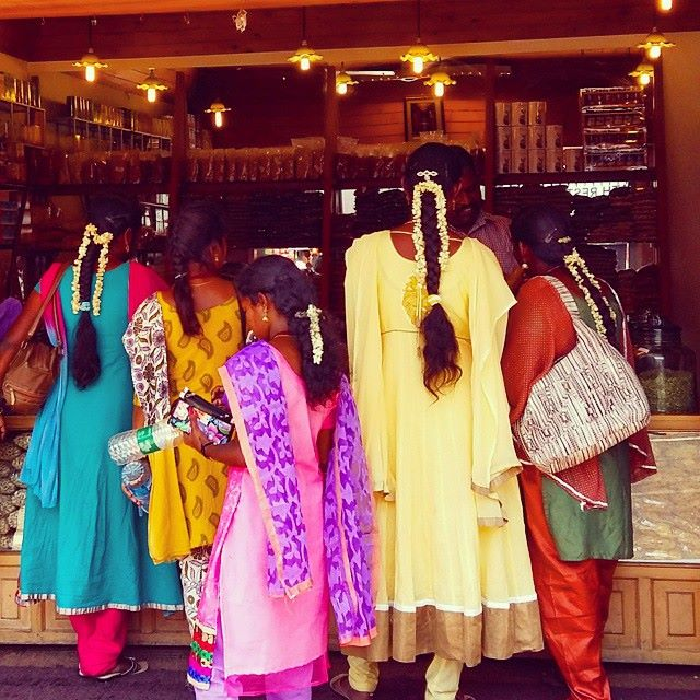 Indian ladies colourful clothing
