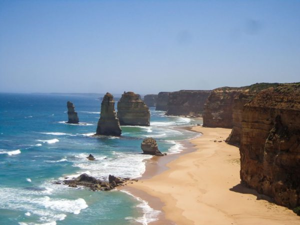 The 12 Apostles on the Great Ocean Road not far from Melbourne