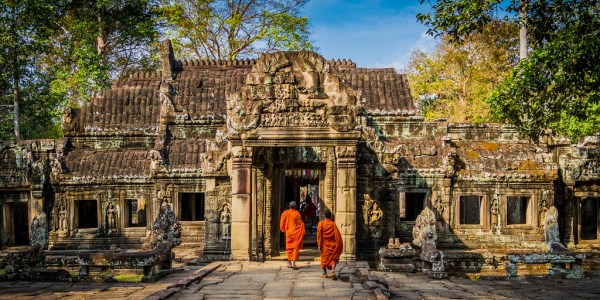 Monks at Angkor Wat in Cambodia