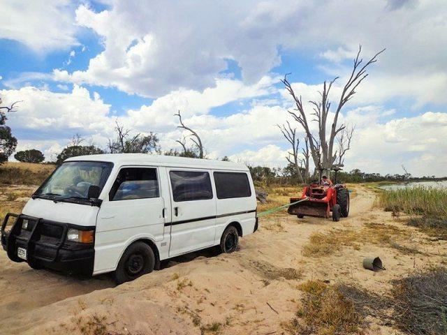 campervan stuck