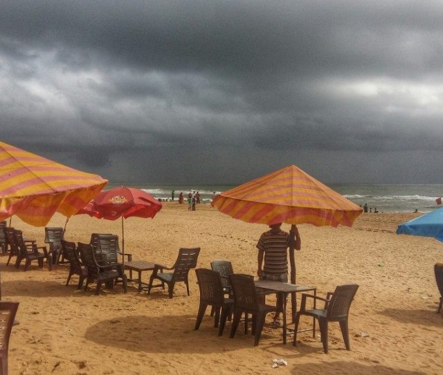 Monsoon Clouds Over Calangute Beach Goa