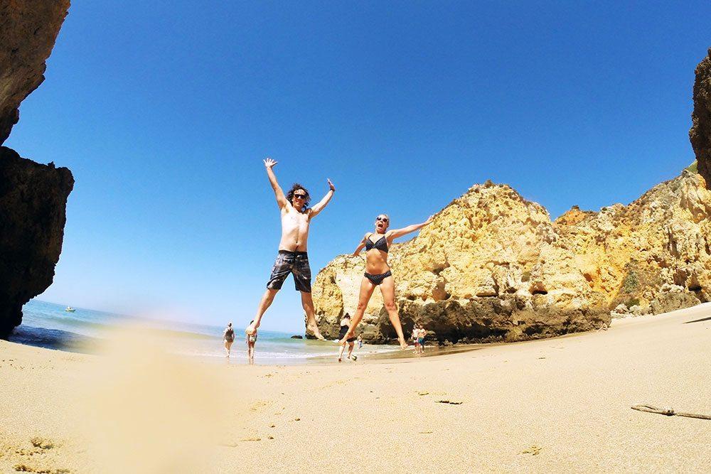 On a secret beach on the Algarve, Portugal