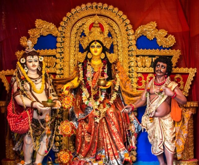A shrine to the goddess Durga in Kolkata
