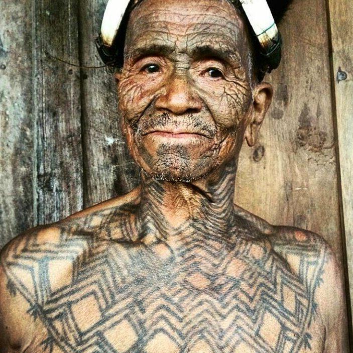 Tattooed Konyak Man