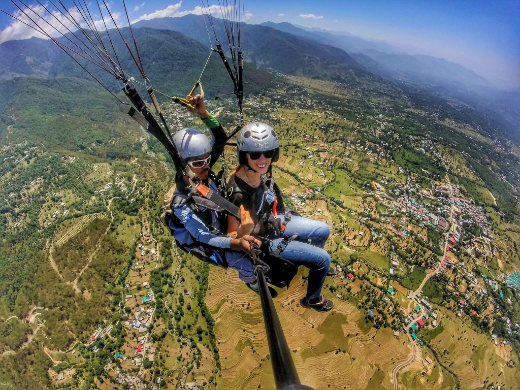 Paragliding in Bir Billing, Himachal Pradesh, India