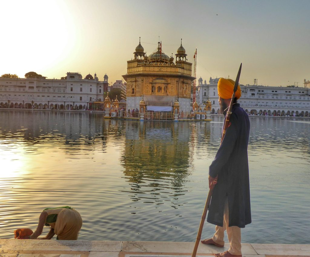 Sunset at the gorgeous Golden Temple in Amritsar
