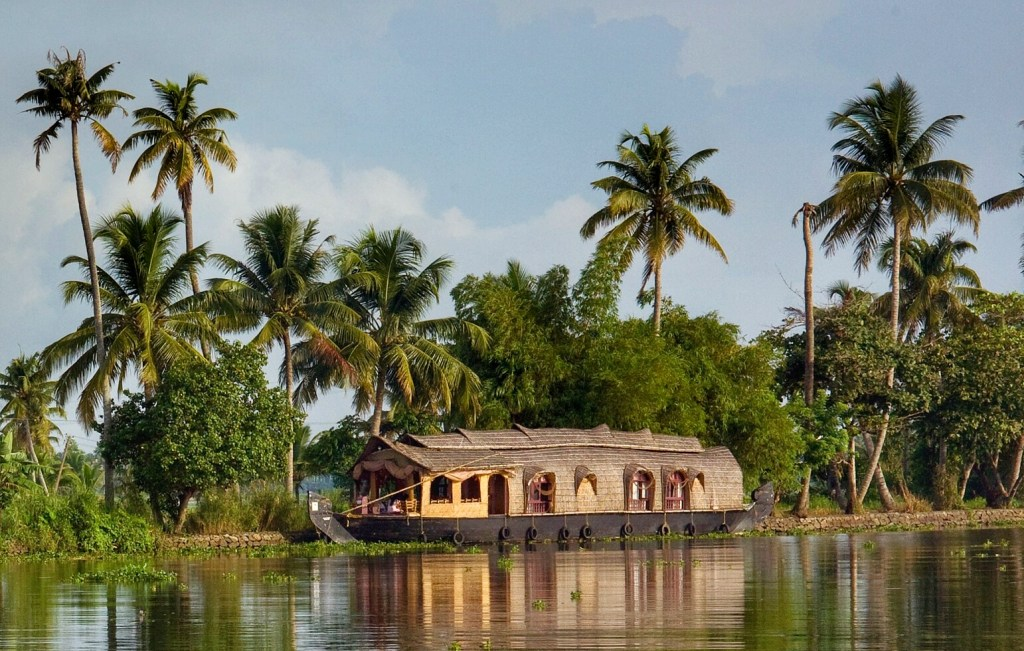 Houseboats on the Kerala backwaters