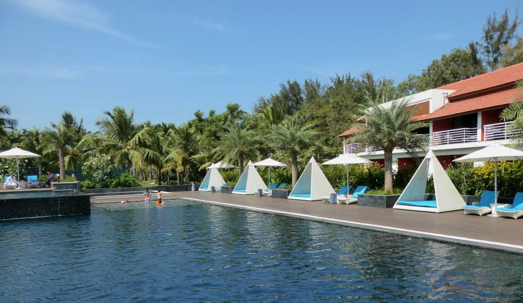 the pool at planet hollywood goa