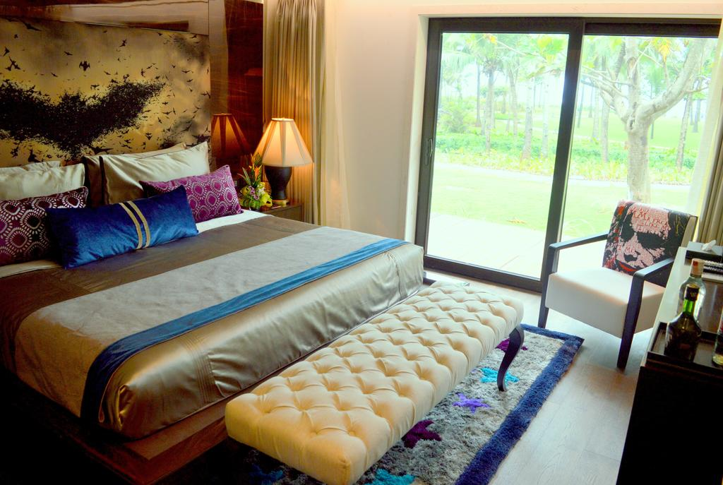 my room at the luxurious planet hollywood hotel in goa
