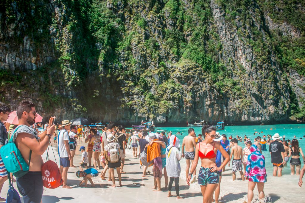 Overcrowded Maya Bay beach, closed indefinitely after environmental damage from tourists