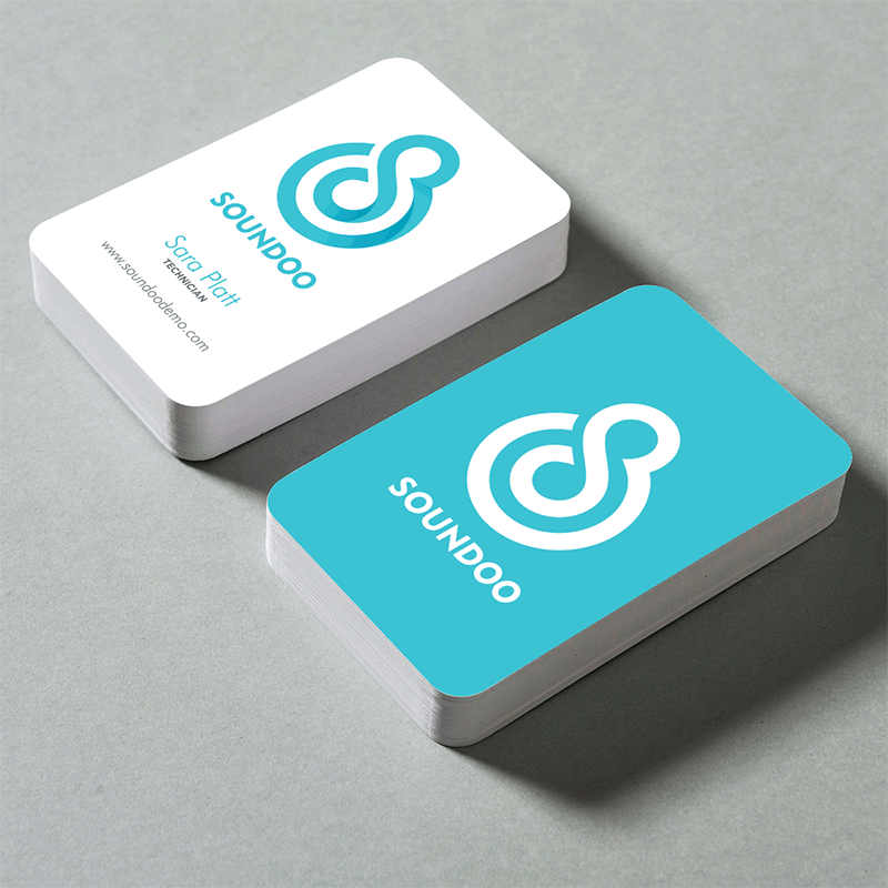 Rounded Corner Business Card Silk