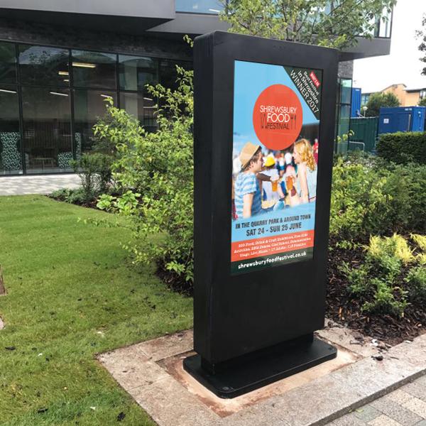 Outdoor Freestanding Digital Poster