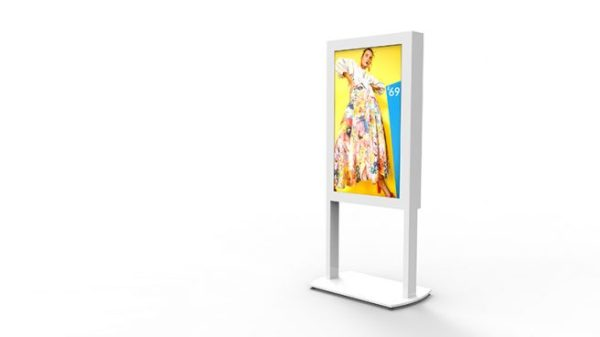 Freestanding Ultra High Brightness Digital Posters - White Background Image